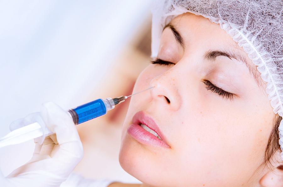 Nasen operiert vor und nach dem Abnehmen